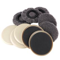 Furniture Sliders, THETIS 2-in-1 Reusable Round Movers, Felt Pads with Hardwood Socks, Protect & Slide on Any Floor Surface - 5 Pack, 5 inch