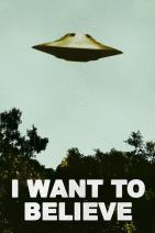 I Want to Believe Poster UFO Artwork Alien TV Retro 90s Poster Wall Decor Movie Poster The Truth is Out There I Believe Poster All Seasons Horror Movie Stretched Canvas Art Wall Decor 16x24