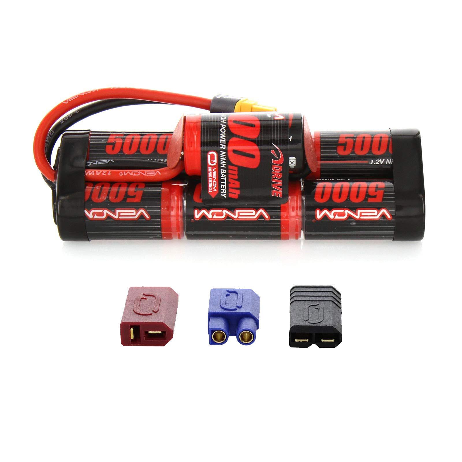 Venom 8.4V 5000mAh 7-Cell Hump Pack NiMH Battery with Universal Plug (EC3/Deans/Traxxas/Tamiya)