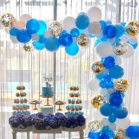 Balloon Garland Kit 114 pcs Balloons Arch Kit for Wedding Birthday Party Baby Shower Decorations, Blue Balloon Garland