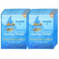 SpaLife Hydrating, Purifying, Anti-Aging, Detoxifying and Soothing Korean Facial Masks - 10 Masks (Bee Venom + Shea Butter + Manuka Honey)