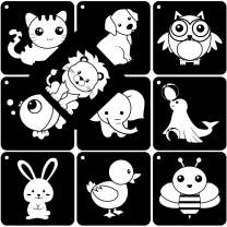 Black White Flash Card High Contrast Flash Cards Visual Stimulation Card for Baby