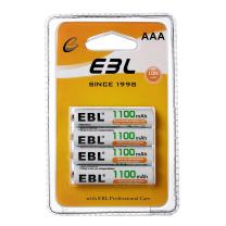 EBL AAA Batteries (4 Counts) with Retail Package, AAA Rechargeable Batteries