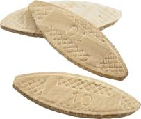 wolfcraft 2922405 Compressed Wafer Shaped Wood Joining Biscuits, #10, 50 Piece Bag