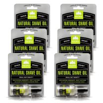 Pacific Shaving Company Natural Shaving Oil - Eliminates Cuts, Nicks, Razor Burn, Soothes & Moisturizes Skin, Reduces Irritation, with Natural & Organic Ingredients, Made in USA.5 oz (6 Pack)