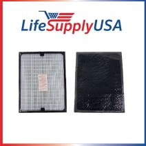LifeSupplyUSA 2 Pack Replacement HEPA Filters Compatible with All Blueair 200 Series SmokeStop Smoke Stop 201, 203, 215B, 250E, 270E, and 303 air purifiers