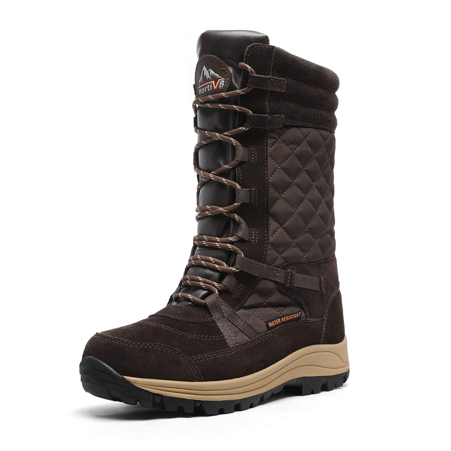 NORTIV 8 Women's Mid Calf Lace up Insulated Winter Snow Boots