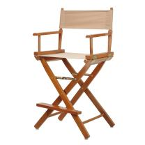 """Casual Home 24"""" Director's Chair Honey Oak Frame-with Tan Canvas, Counter Height"""