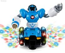 WolVol Bump and Go Robot Toy - Realistic Action with Interactive Sound & Bright Lights - Perfect Gift for Any Occasion for Kids Boys & Girls