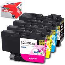 Kingway Compatible Ink Cartridge Replacement for Brother LC3033 LC3033XXL Work with MFC-J995DW MFC-J995DWXL MFC-J815DW, MFC-J805DW, MFC-J805DWXLPrinter (Black, Cyan, Magenta, Yellow, 4-Pack)