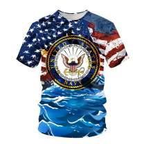 pinata US Navy Shirt Unisex 3D Printed Shirts for Men Short Sleeve Tee Shirts