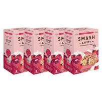 Strawberries and Cream Rice Crispy by SMASHMALLOW | Non-GMO | Organic Cane Sugar | Gluten Free | 24 Count