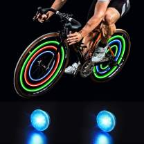 MapleSeeker Bike Wheel Lights Bike Spoke Lights with Batteries Included, Waterproof Bicycle Wheel Lights for Safe Cycling, Easy to Install Cool Bike Lights for Wheels