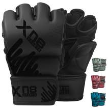 XN8 MMA Gloves Boxing Training Sparring Fight Grappling Mitts with Open Palm- for Cage Fighting-Combat Sports- Punching Bag-Muay Thai & Kickboxing