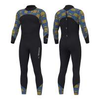 Hevto Wetsuits Men 3mm Neoprene Full Scuba Diving Suits Surfing Swimming Long Sleeve Keep Warm Back Zip for Water Sports