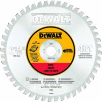 DEWALT DWA7762 48 Teeth Ferrous Metal Cutting 5/8-Inch Arbor, 6-1/2-Inch