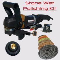 "Stadea SWP105K Stone Concrete Countertop Grinder Polisher Wet Stone 4"" Concrete Polishing Kit"