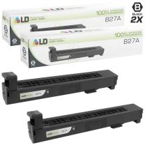 LD Remanufactured Toner Cartridge Replacement for HP 827A CF300A (Black, 2-Pack)