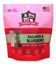Harvard's Finest by SodaPup Healthy Dog Treats, 38 Soft Chews, Gluten Free, Soy Free, Sugar Free, Salt Free, Corn Free (Salmon & Blueberry)