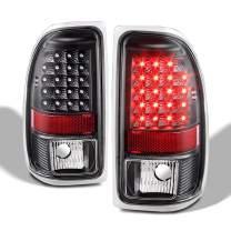 Fit 1997-2004 Dodge Dakota Premium LED Tail Lamps Brake Lights Assemblies - Black Housing & Clear Lens