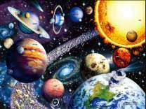 Space Puzzles for Adults Jigsaw Puzzles 1000 Pieces ¨C Solar System Jigsaw Puzzle Galaxy Puzzles