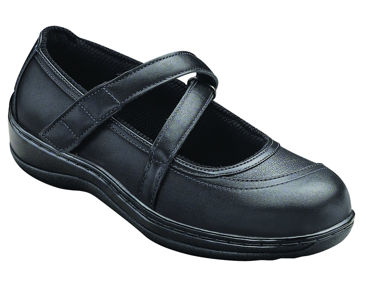 Orthofeet Proven Heel and Foot Pain Relief. Extended Widths. Best Orthopedic Bunions Diabetic Women's Leather Shoes Celina