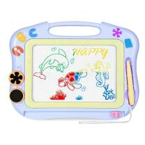 CAZON Magnetic Drawing Board for Kids, Doodle Board for Toddlers, Erasable Color Magnetic Drawing Board, with Adorable 2 Stamps for Boys and Girls Birthday Gift