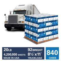 Hammermill Great White 30% Recycled 20lb Copy Paper, 8.5x11, 840 Case Truckload, 4,200,000 Sheets, Made in USA, Sustainably Sourced From American Family Tree Farms, 92 Bright, Acid Free, 086700TRK