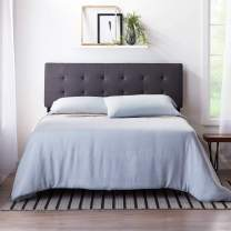 LUCID Square Tufted Mid Rise Adjustable Height Headboard, Full/Full XL, Charcoal