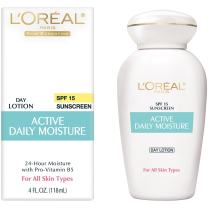 L'Oreal Active Daily Moisture Lotion 4 oz (Pack of 12)