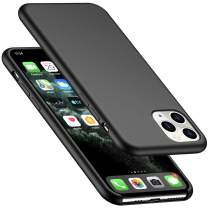 "AnsTOP iPhone 11 Pro Max Case, Anti-Slip Liquid Silicone Case Shockproof Protection Slim Rubber Cover with Microfiber Cushion Phone Case for iPhone 11 Pro Max 6.5"" (2019) - Black"