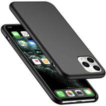 """AnsTOP iPhone 11 Pro Max Case, Anti-Slip Liquid Silicone Case Shockproof Protection Slim Rubber Cover with Microfiber Cushion Phone Case for iPhone 11 Pro Max 6.5"""" (2019) - Black"""