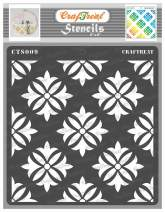 CrafTreat Flower Stencils for Painting on Wood, Canvas, Paper, Fabric, Floor, Wall and Tile - Tuberose - 6x6 Inches - Reusable DIY Art and Craft Stencils for Painting Flowers - Flower Art