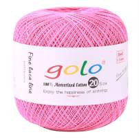 golo Crochet Thread Size 20 Pink for Hand Knitting