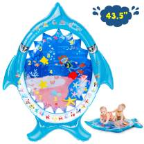 Soopotay Tummy Time Water Mat, Infant Baby Toys 3 to 12 Months, Baby Activity Play Centers for Newborn Girl Boy