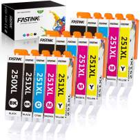 FASTINK Compatible Ink Cartridges Replacement for Canon 250XL 251XL 250 XL 251 XL PGI-250XL CLI-251XL for Canon PIXMA MX922 MG5520 MG7520 Printer,15-Packs(3 Black,3 PBK,3 Cyan,3 Magenta,3 Yellow)