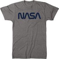 Vintage NASA Navy Worm Logo Men's Modern Fit Tri-Blend T-Shirt