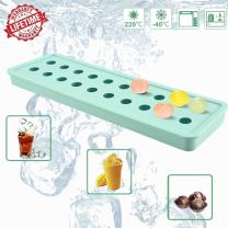 IC ICLOVER Ice Cube Moulds, Easy-Pop Mini 20 Cavities DIY Silicone Ice Trays Sphere Round Ball Soap Maker for Cocktails Whiskey, Candy Pudding Milk Juice for Valentine's Day Halloween Christmas