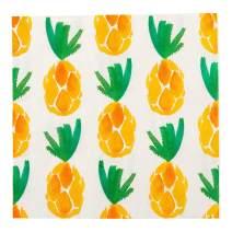 "White Paper Luncheon Napkin - Pineapple Watercolor - 13"" x 13"" - 20 count box - Restaurantware"