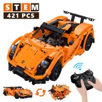 STEM Building Toys Rc Car, Remote Control Car Educational Toys for Boys and Girls, 421 Pieces Building Blocks Toys Top Birthday Gift for 6-10+ Years Kids Model Cars Kits to Build for Kids Teens Adults