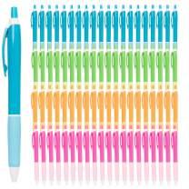 Simply Genius (100 Pack) Retractable Ballpoint Pens Lot Medium Point Black Ink Pens Bulk Click Pens For Journal Notebook Writing Office Supplies