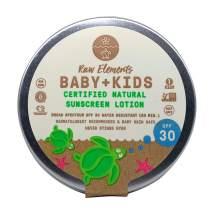 Raw Elements Baby + Kids SPF 30 Organic Sunscreen Lotion Non-Nano Zinc Oxide, Reef-Safe, Cruelty-Free, Gentle and Moisturizing, Zero Waste Tin, 3oz