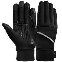 VBG VBIGER Touch Screen Running Gloves for Men Women Full Finger Gloves Winter Lightweight Gloves for Outdoor Running Cycling