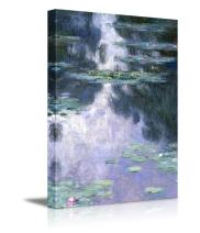 wall26 - Claude Monet Water Lilies Nymphe - Impressionist Modern Art - Canvas Art Home Decor - 32x48 inches