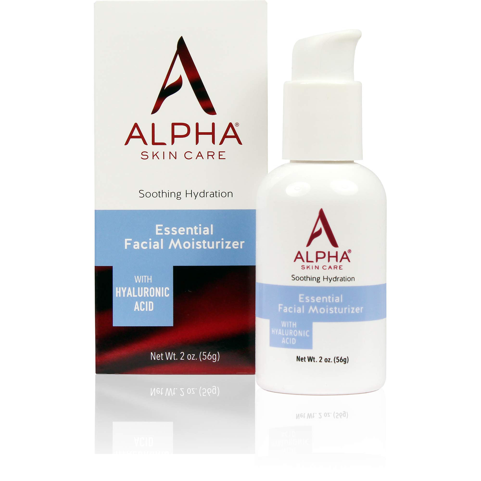 Alpha Skin Care Essential Facial Moisturizer with Hyaluronic Acid | Soothing Hydration | Reduces the Appearance of Lines & Wrinkles | For Normal to Dry Skin | 2 Oz