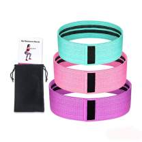 Sprifloral Resistance Bands for Legs and Butt - Anti-Slip Thicken Fabric Loop Exercise Bands for Women Activate Glutes and Thigh Professional Working Out Booty Bands (3 Set)