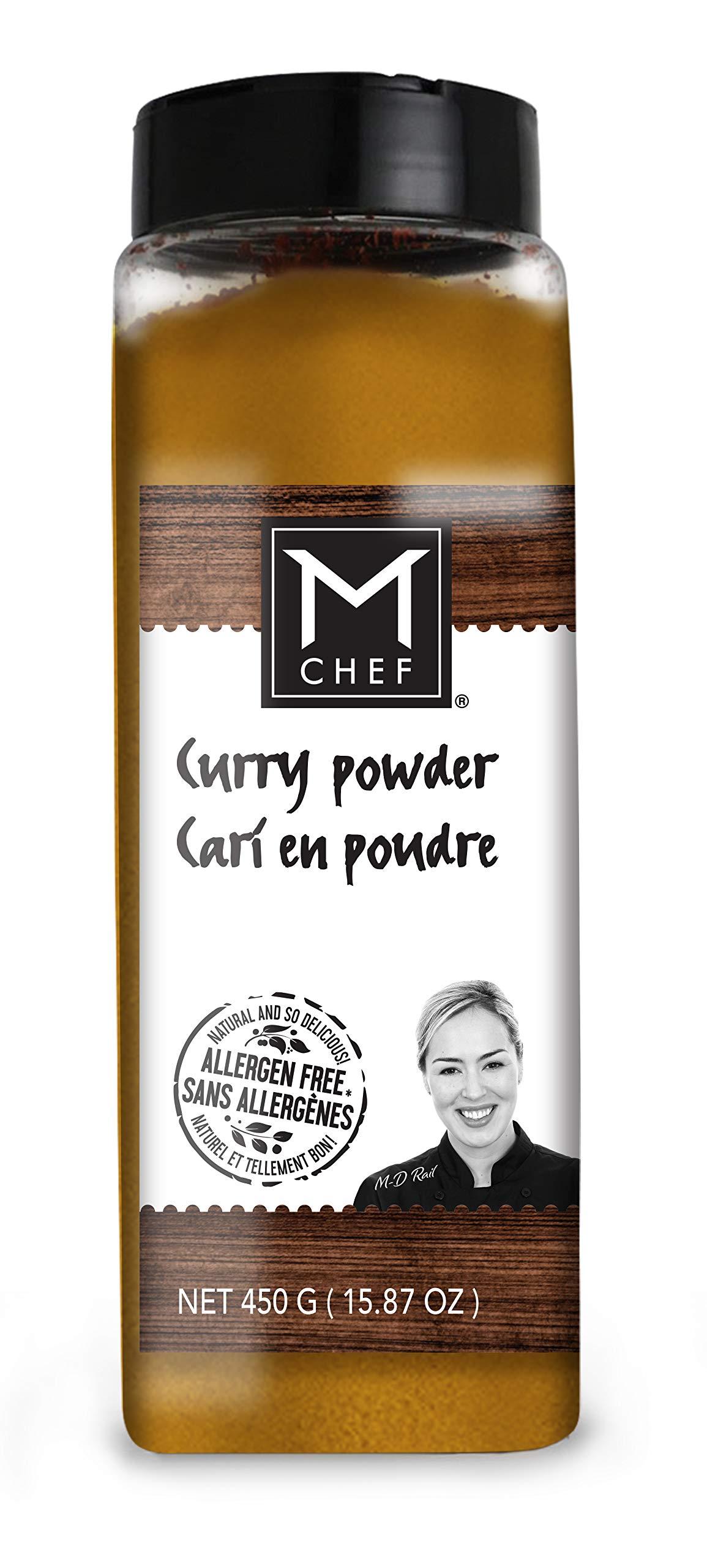 MCHEF Curry Powder, Natural Spicy Blend, Organic, Kosher, Non GMO, Vegan, Gluten Free Ingredients (15.87 oz)