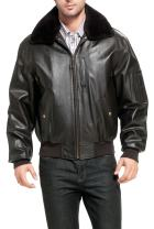 Landing Leathers Men's Air Force B-15 Leather Flight Bomber Jacket (Regular and Big & Tall Sizes)