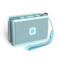 DOSS Genie Portable Bluetooth Speaker with Clean Sound, 33ft Bluetooth Range, Built-in Mic, Ultra-Portable Design, Wireless Speaker Compatible for Home, Outdoors, Travel - Ice Blue
