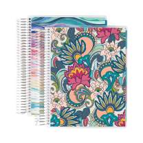 Erin Condren 12 - Month 2020-2021 Playful Paisley & Layers Colorful Coiled Daily Life Planner (July 2020 - June 2021) Layers Colorful Interior - Set of Two 6-Month Planners. 12 Months of Planning